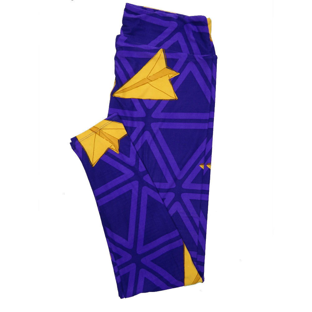 LuLaRoe Tall Curvy TC Leggings Paper Airplane (TC fits 12-18) TC-7026-X