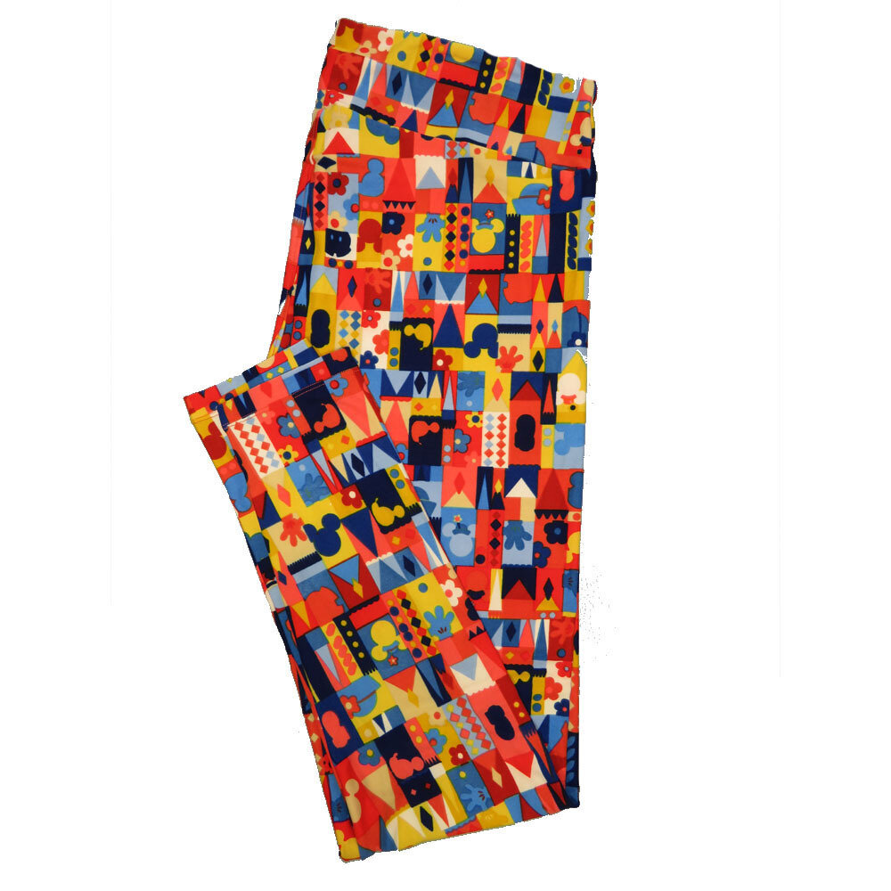 LuLaRoe Tall Curvy TC Leggings Disney Mickey and Minnie Mouse (TC fits 12-18) TC-7040-P