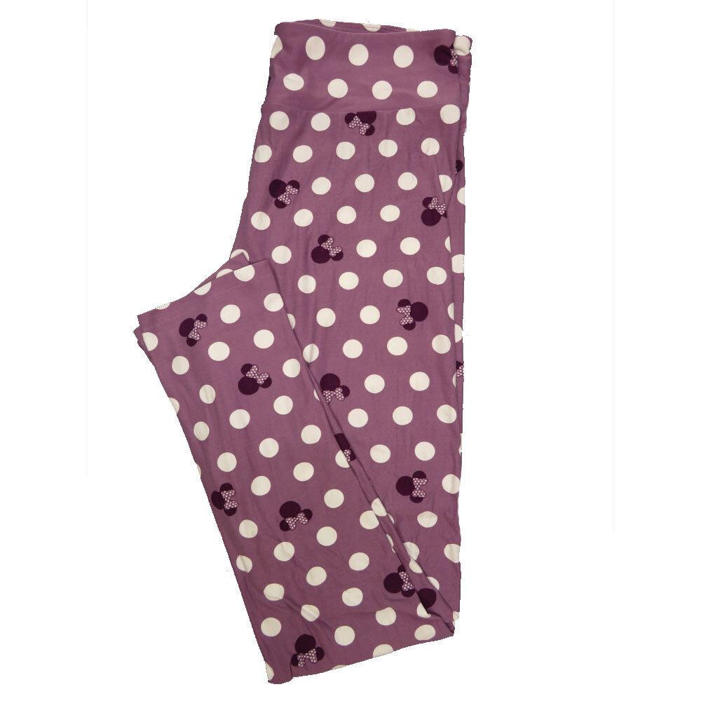 LuLaRoe Tall Curvy TC Leggings Disney Minnie Mouse (TC fits 12-18) TC-7041-O