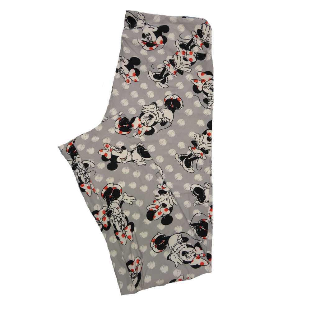 LuLaRoe Tall Curvy TC Leggings Disney Minnie Mouse (TC fits 12-18) TC-7041-V