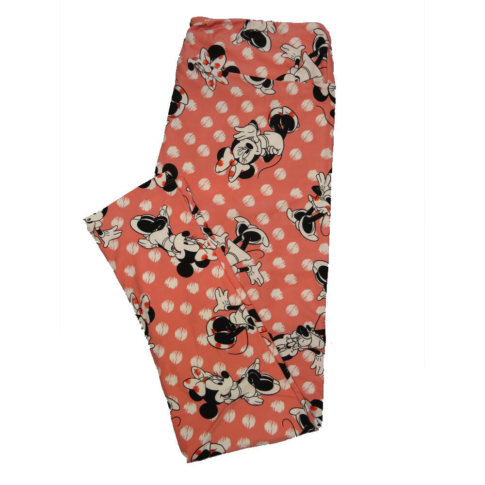 LuLaRoe Tall Curvy TC Leggings Disney Minnie Mouse (TC fits 12-18) TC-7042-I
