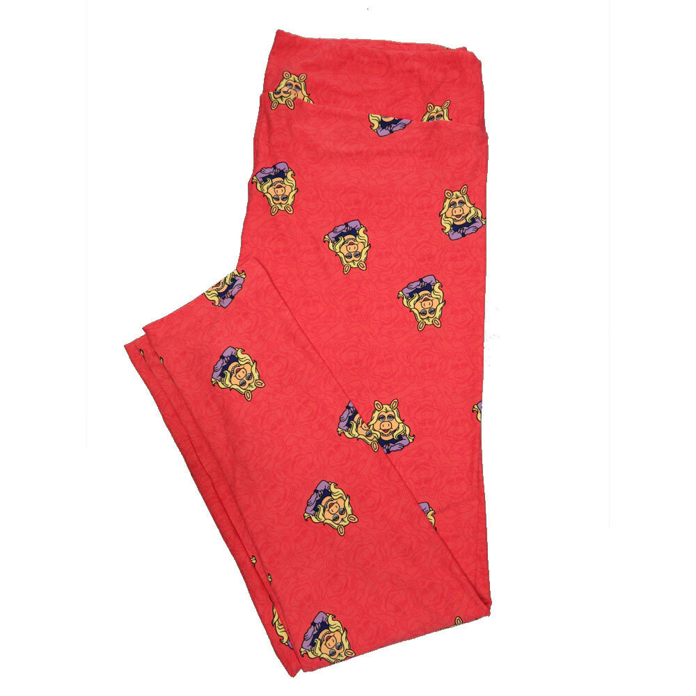 LuLaRoe Tall Curvy TC Leggings Disney Muppets Miss Piggy (TC fits 12-18) TC-7046-Q