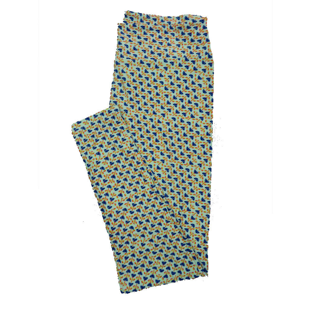 LuLaRoe Tall Curvy TC Leggings Floral (TC fits 12-18) TC-7018-L