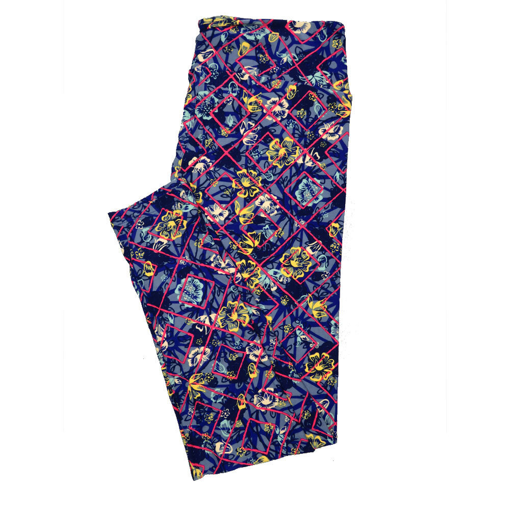 LuLaRoe Tall Curvy TC Leggings Floral (TC fits 12-18) TC-7018-M