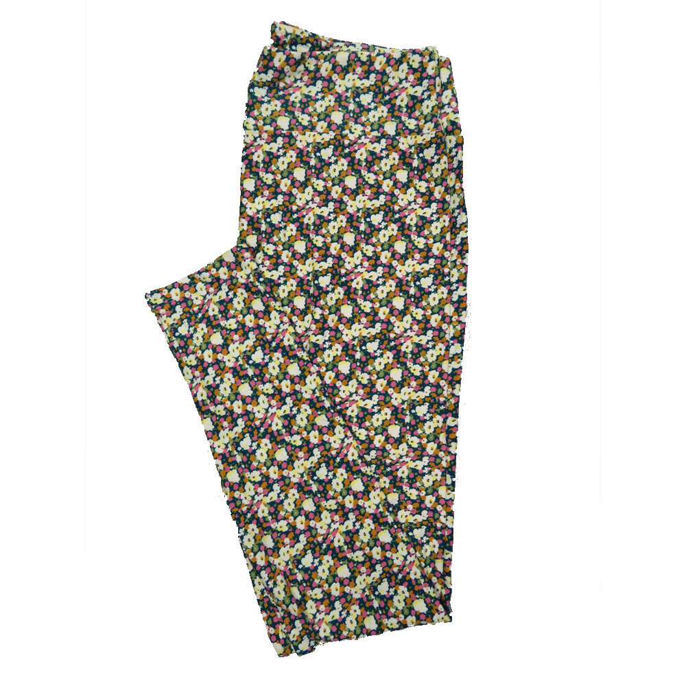 LuLaRoe Tall Curvy TC Leggings Floral (TC fits 12-18) TC-7018-W