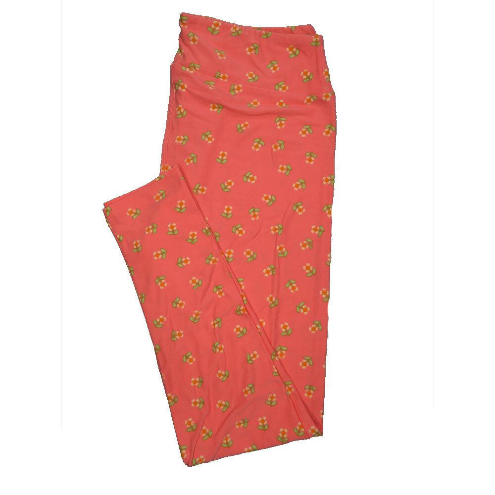 LuLaRoe Tall Curvy TC Leggings Floral (TC fits 12-18) TC-7019-B