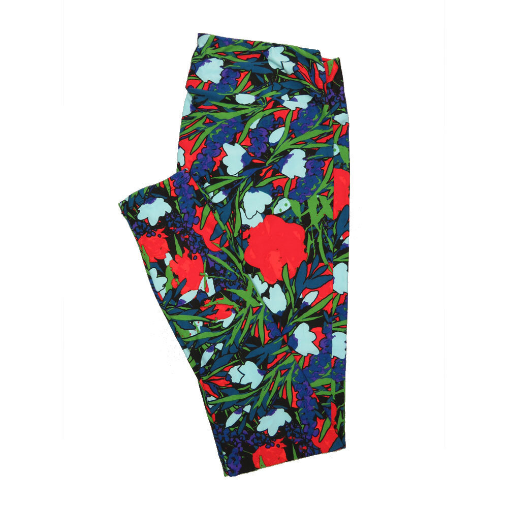LuLaRoe Tall Curvy TC Leggings Floral (TC fits 12-18) TC-7019-F