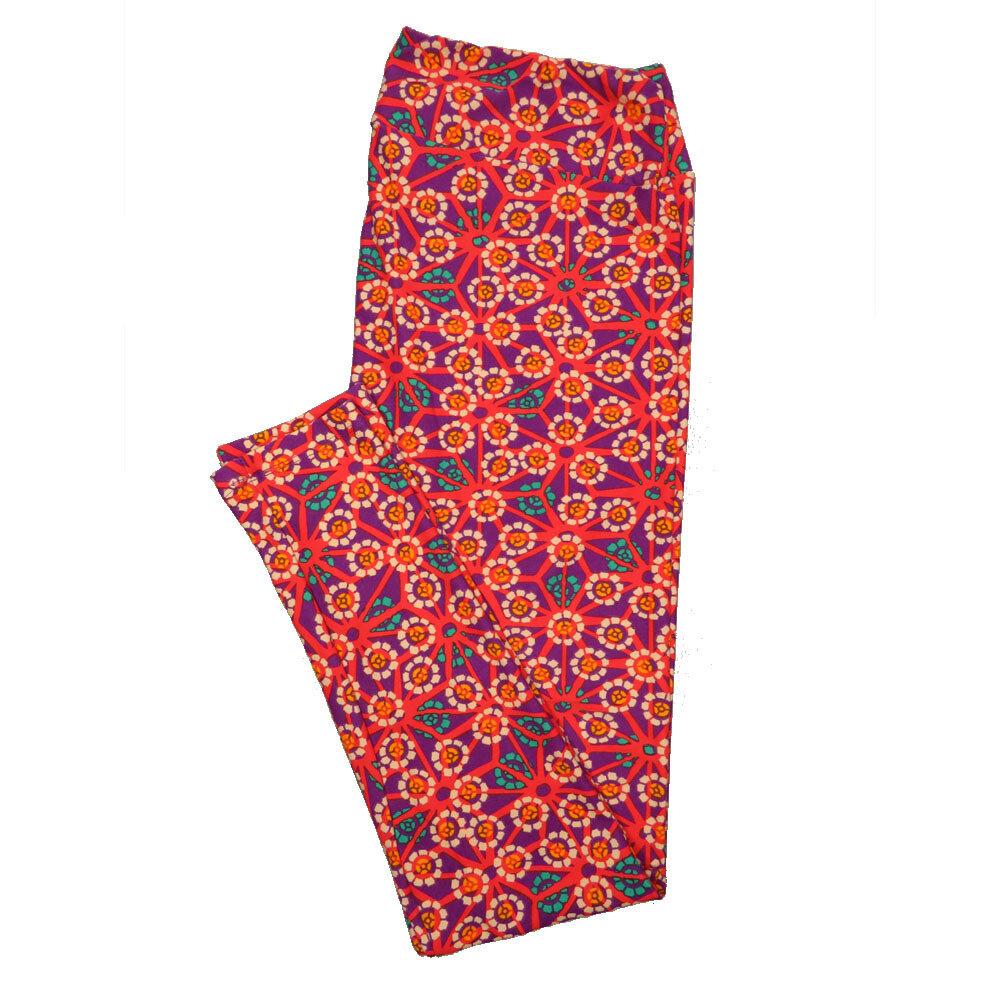 LuLaRoe Tall Curvy TC Leggings Floral (TC fits 12-18) TC-7019-P