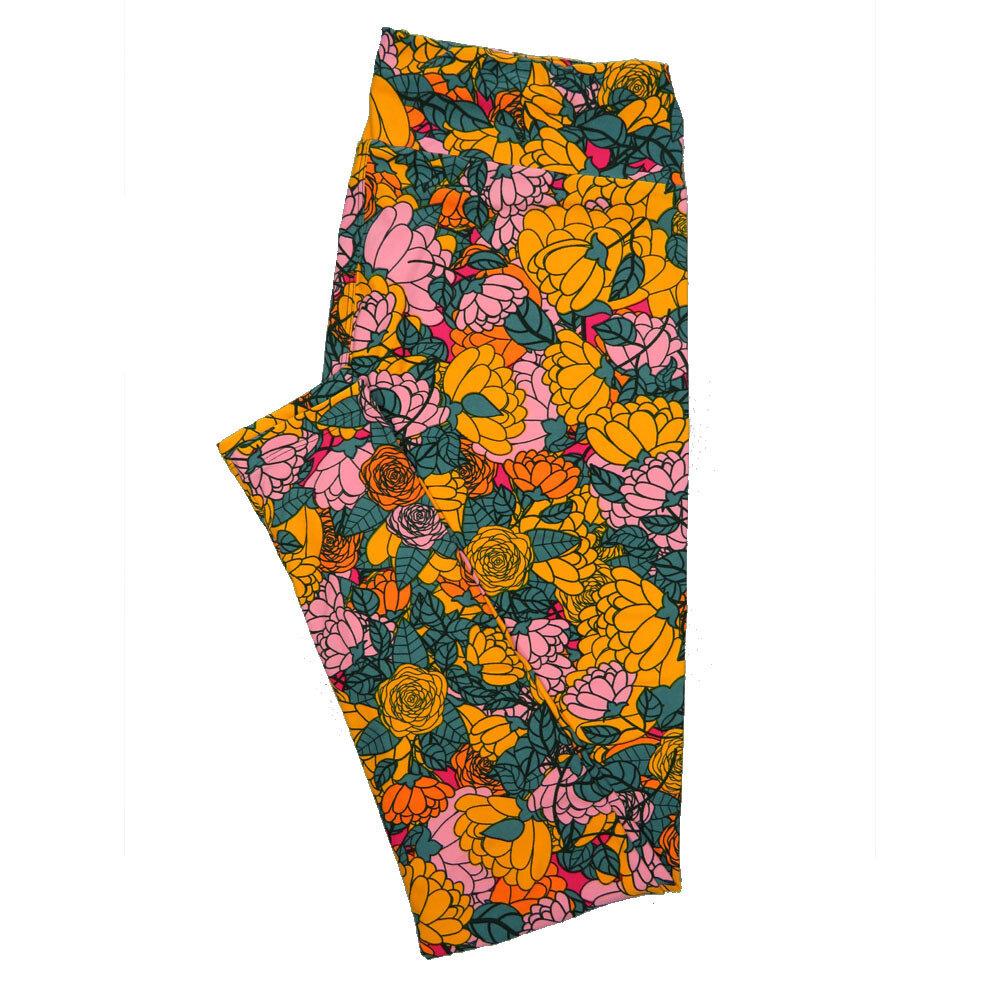 LuLaRoe Tall Curvy TC Leggings Floral (TC fits 12-18) TC-7019-Q