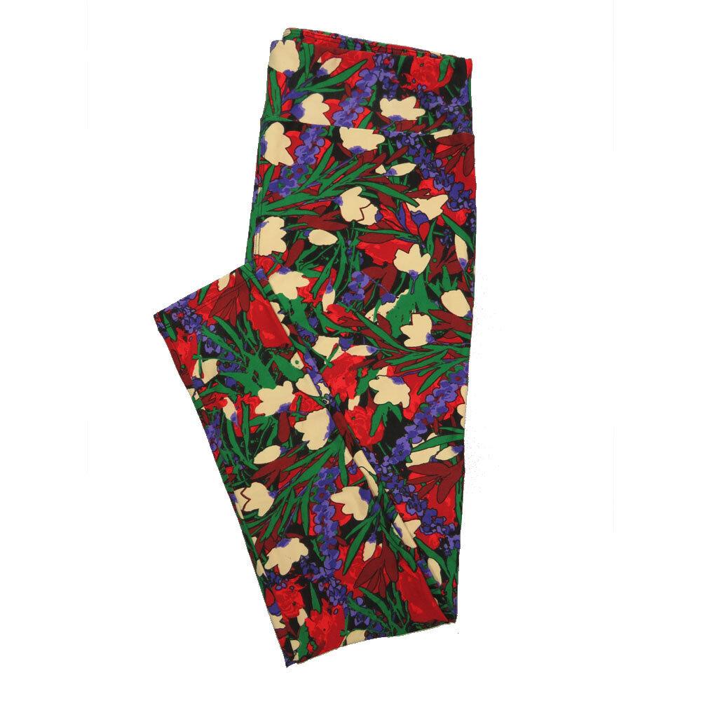LuLaRoe Tall Curvy TC Leggings Floral (TC fits 12-18) TC-7020-K