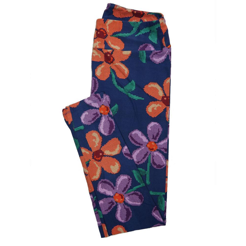 LuLaRoe Tall Curvy TC Leggings Floral (TC fits 12-18) TC-7020-L