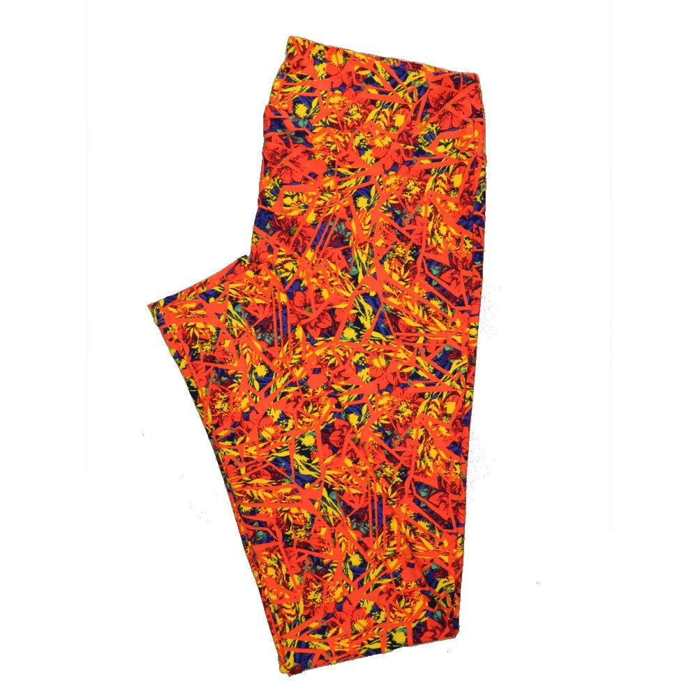 LuLaRoe Tall Curvy TC Leggings Floral (TC fits 12-18) TC-7020-O