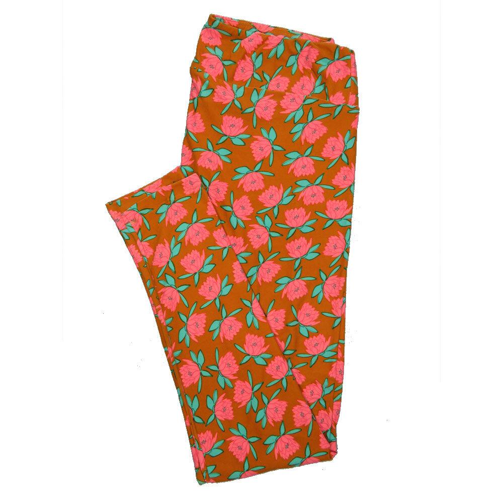 LuLaRoe Tall Curvy TC Leggings Floral (TC fits 12-18) TC-7020-Q
