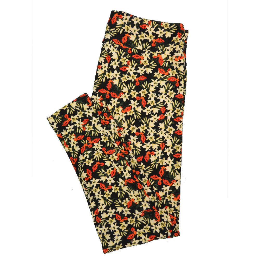 LuLaRoe Tall Curvy TC Leggings Floral (TC fits 12-18) TC-7021-H
