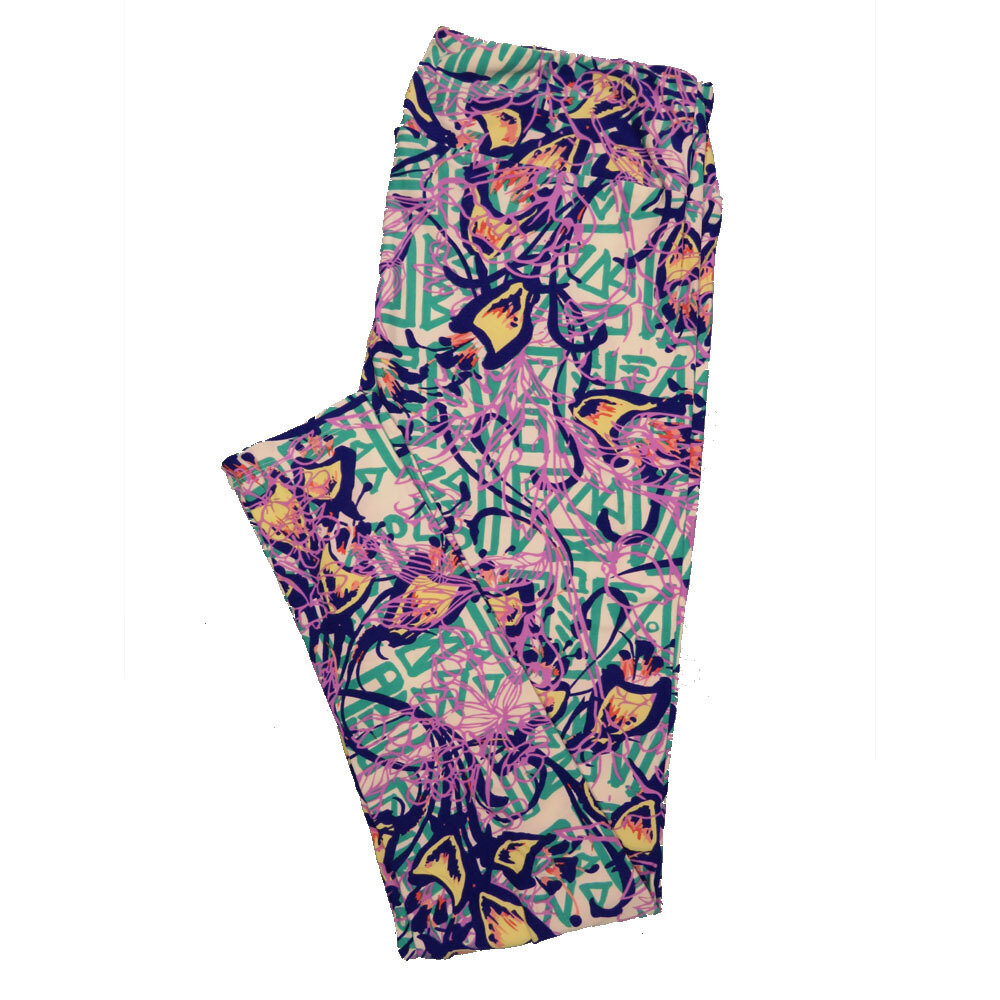 LuLaRoe Tall Curvy TC Leggings Floral (TC fits 12-18) TC-7022-H