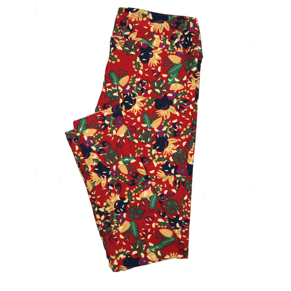 LuLaRoe Tall Curvy TC Leggings Floral (TC fits 12-18) TC-7022-S