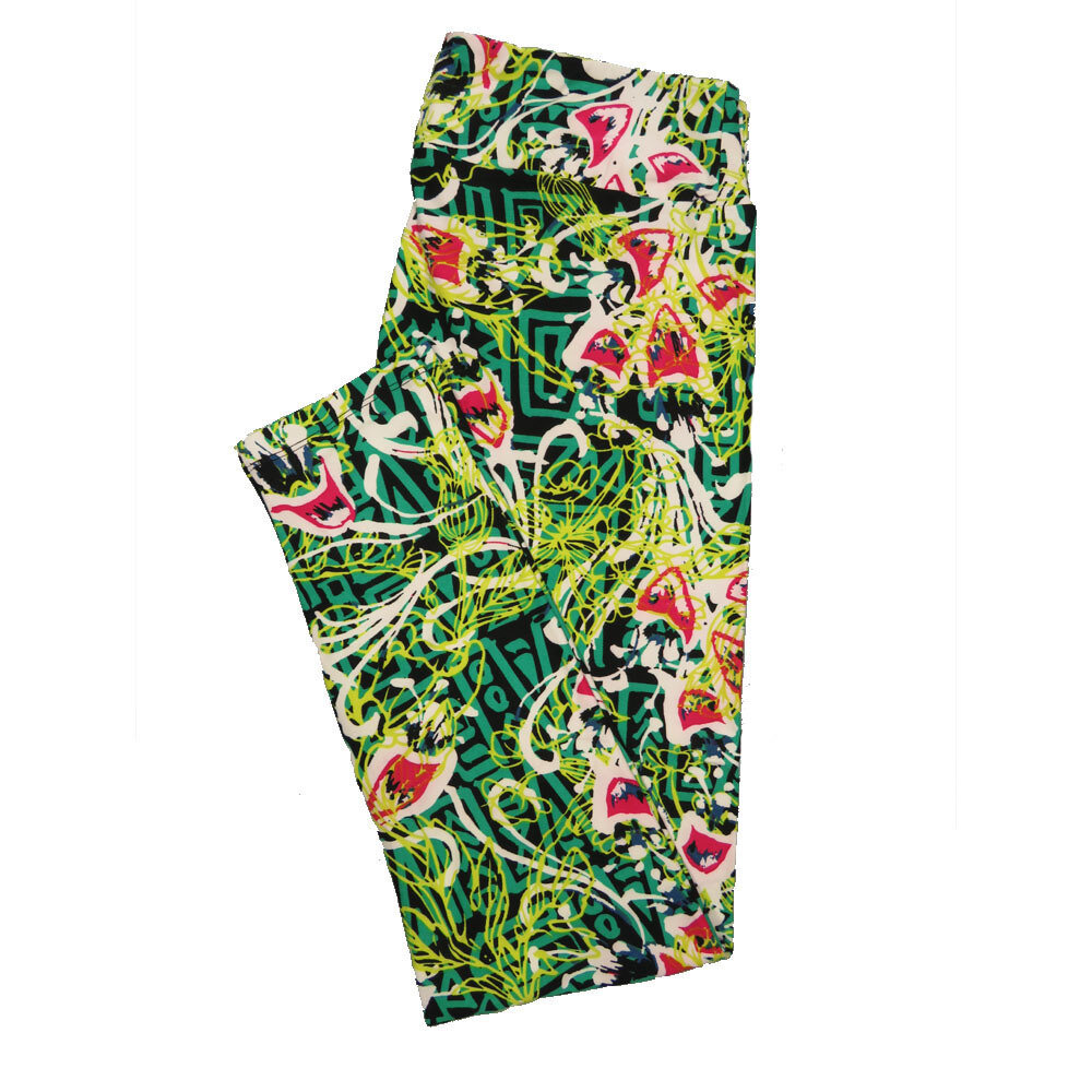 LuLaRoe Tall Curvy TC Leggings Floral (TC fits 12-18) TC-7022-U
