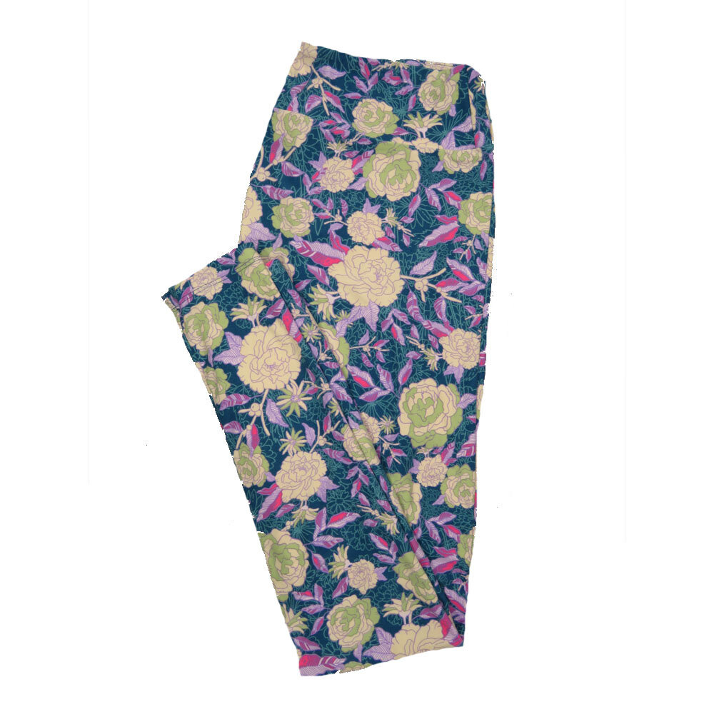 LuLaRoe Tall Curvy TC Leggings Floral (TC fits 12-18) TC-7022-V
