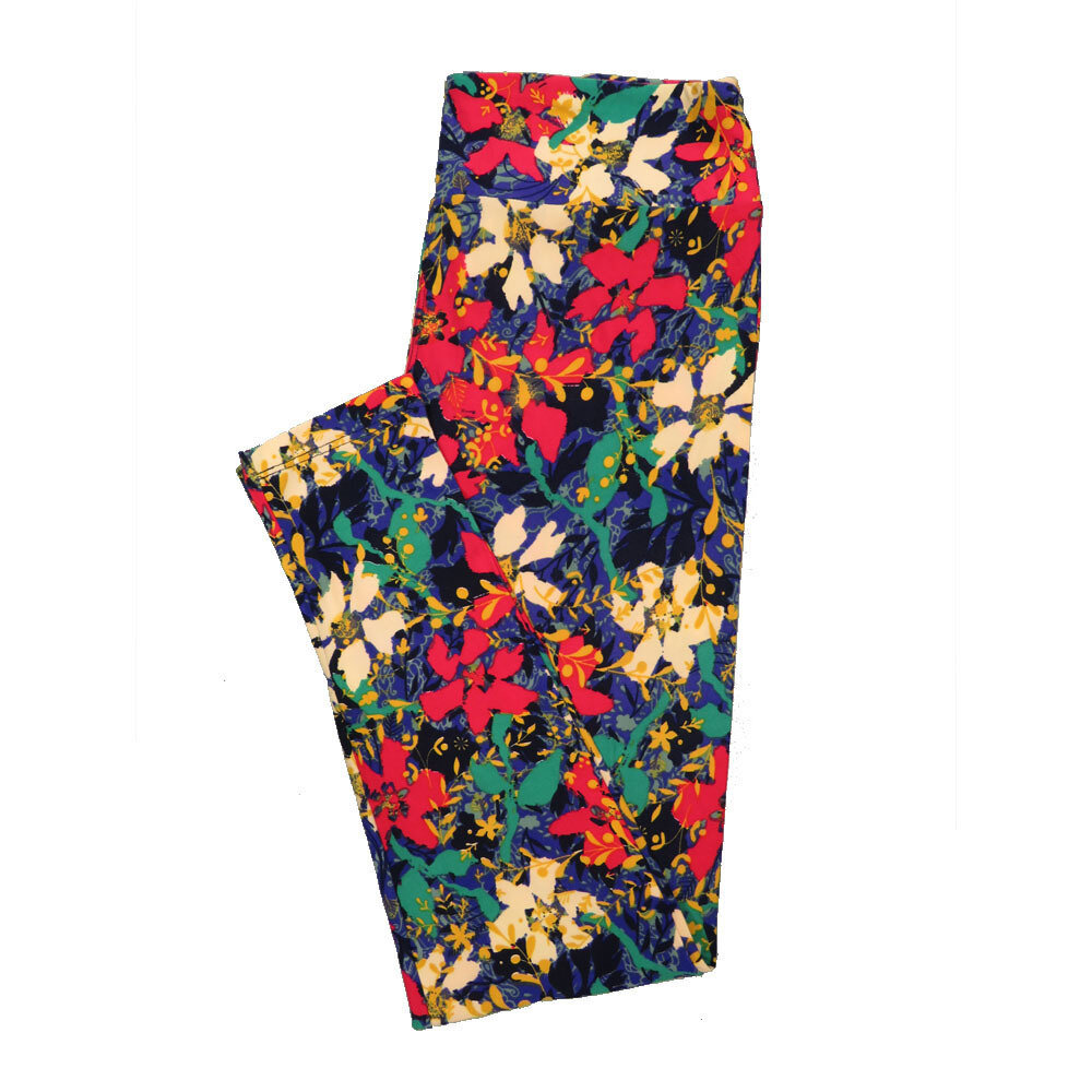 LuLaRoe Tall Curvy TC Leggings Floral (TC fits 12-18) TC-7023-A