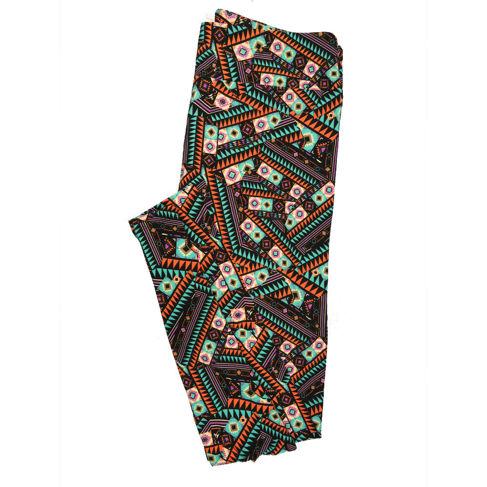 LuLaRoe Tall Curvy TC Leggings Geometric (TC fits 12-18) TC-7010-P