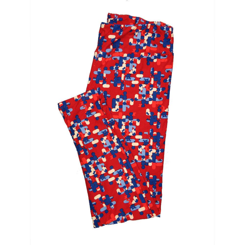LuLaRoe Tall Curvy TC Leggings Geometric (TC fits 12-18) TC-7012-K