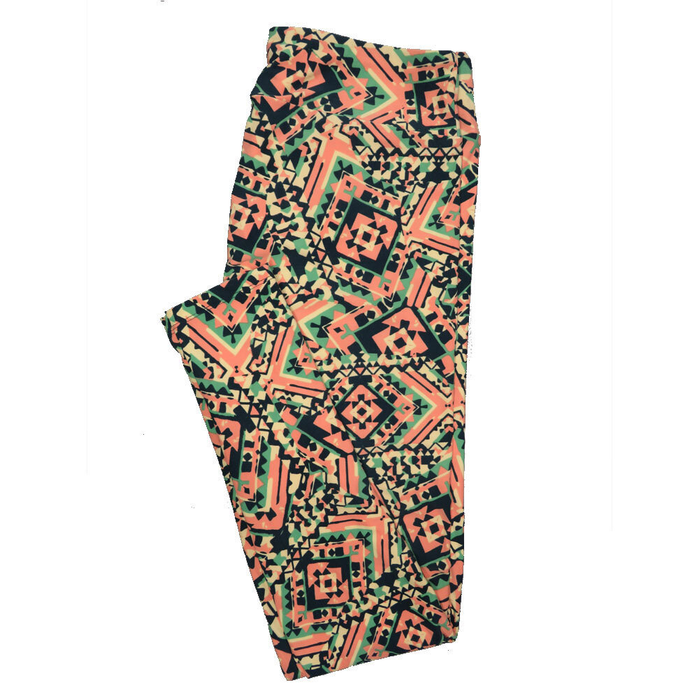 LuLaRoe Tall Curvy TC Leggings Geometric (TC fits 12-18) TC-7026-R