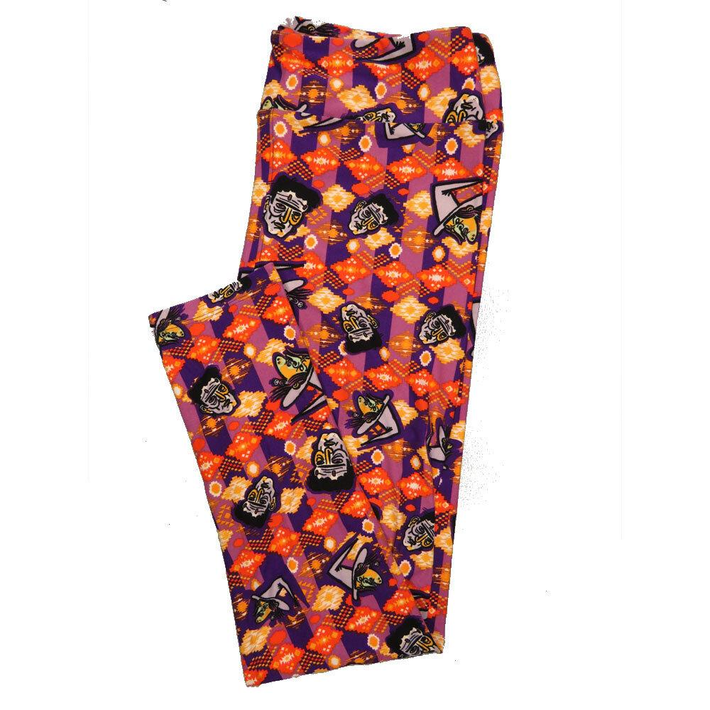 LuLaRoe Tall Curvy TC Leggings Halloween (TC fits 12-18) TC-7029-P