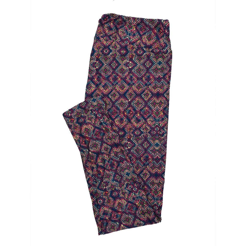 LuLaRoe Tall Curvy TC Leggings Psychedelic 70s Trippy (TC fits 12-18) TC-7008-I