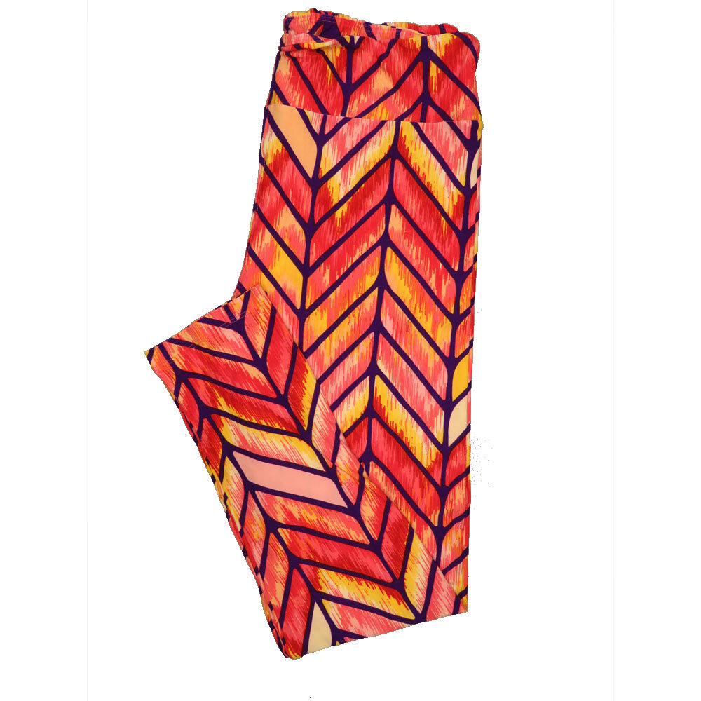 LuLaRoe Tall Curvy TC Leggings Stripe Zig Zag Chevron (TC fits 12-18) TC-7003-F