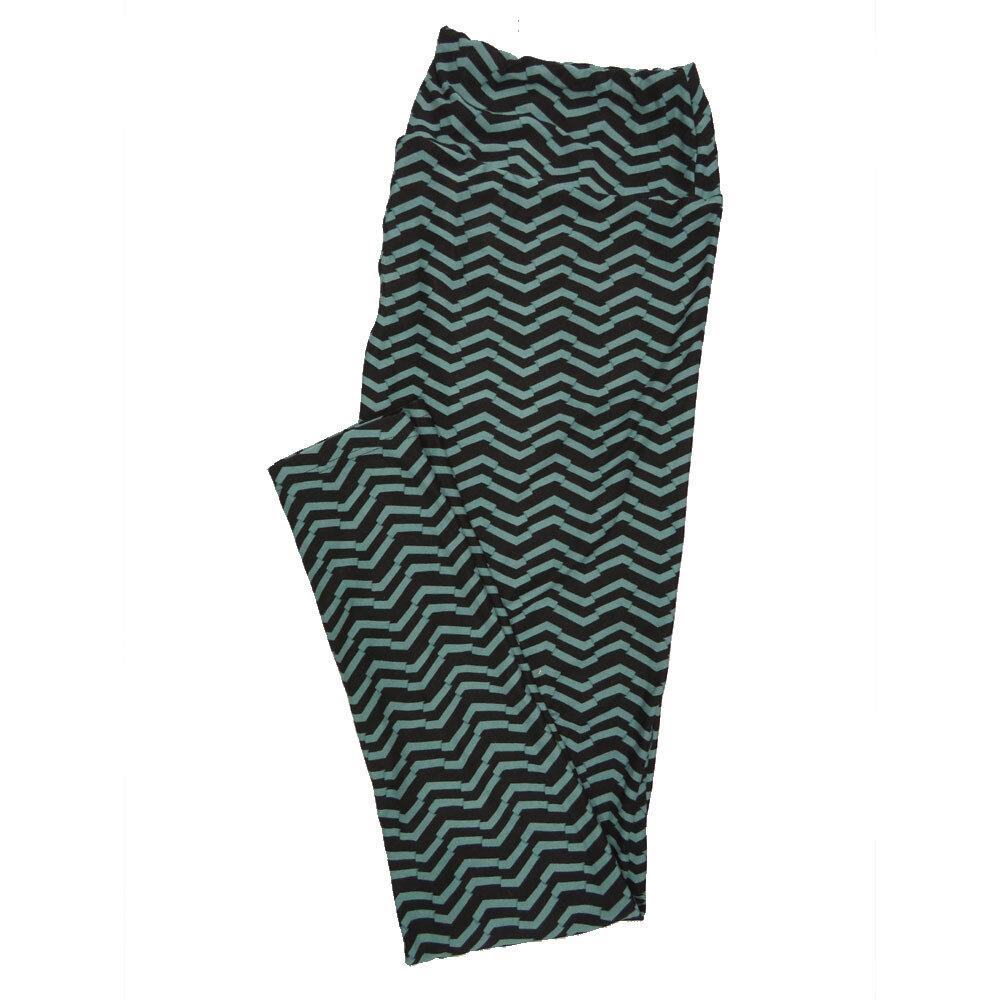 LuLaRoe Tall Curvy TC Leggings Stripe Zig Zag Chevron (TC fits 12-18) TC-7003-V