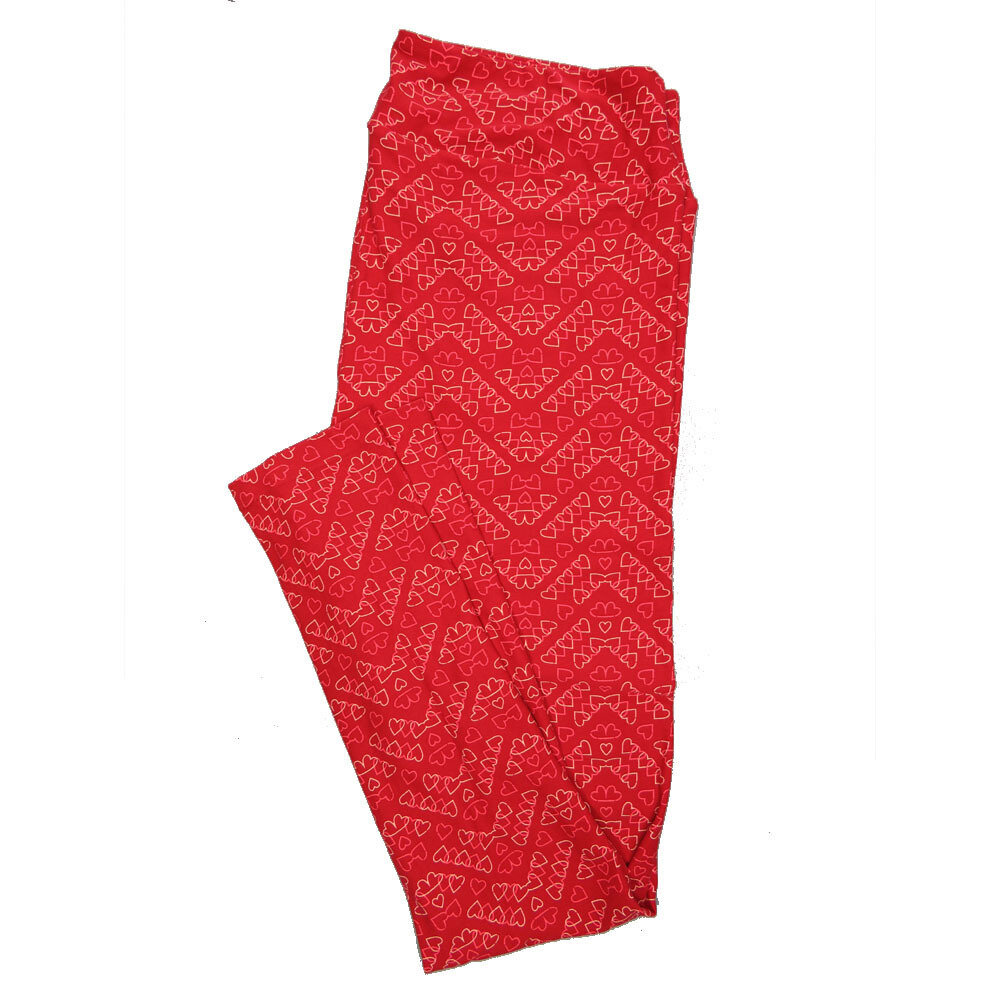 LuLaRoe Tall Curvy TC Leggings Love Hearts (TC fits 12-18) TC-7029-U