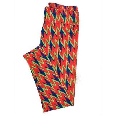 LuLaRoe Tall Curvy TC Leggings Psychedelic 70s Trippy (TC fits 12-18) TC-7007-B