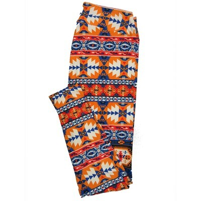 LuLaRoe Tall Curvy TC Leggings Psychedelic 70s Trippy (TC fits 12-18) TC-7007-M