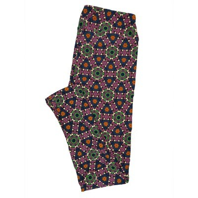 LuLaRoe Tall Curvy TC Leggings Psychedelic 70s Trippy (TC fits 12-18) TC-7007-R3