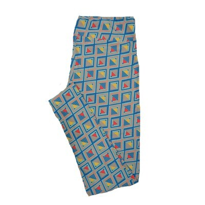 LuLaRoe Tall Curvy TC Leggings Geometric (TC fits 12-18) TC-7012-R