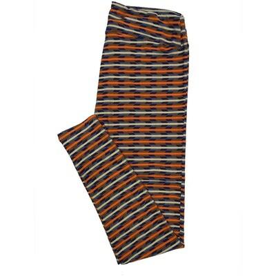 LuLaRoe Tall Curvy TC Leggings Stripe Zig Zag Chevron (TC fits 12-18) TC-7001-P2