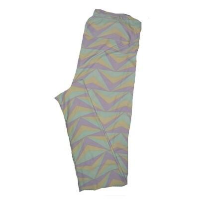 LuLaRoe Tall Curvy TC Leggings Stripe Zig Zag Chevron (TC fits 12-18) TC-7003-X