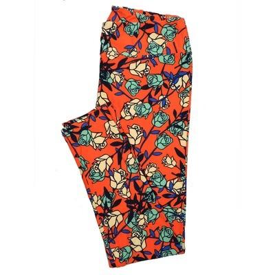 LuLaRoe Tall Curvy TC Leggings Roses (TC fits 12-18) TC-7024-V2