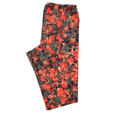 LuLaRoe Tall Curvy TC Leggings Floral (TC fits 12-18) TC-7019-L