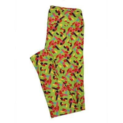 LuLaRoe Tall Curvy TC Leggings Geometric (TC fits 12-18) TC-7013-L5