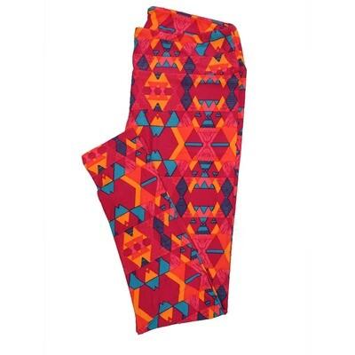 LuLaRoe Tall Curvy TC Leggings Geometric (TC fits 12-18) TC-7013-T2