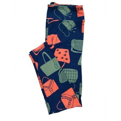 LuLaRoe Tall Curvy TC Leggings Hand Bags Purses Should Bags (TC fits 12-18) TC-7017-D