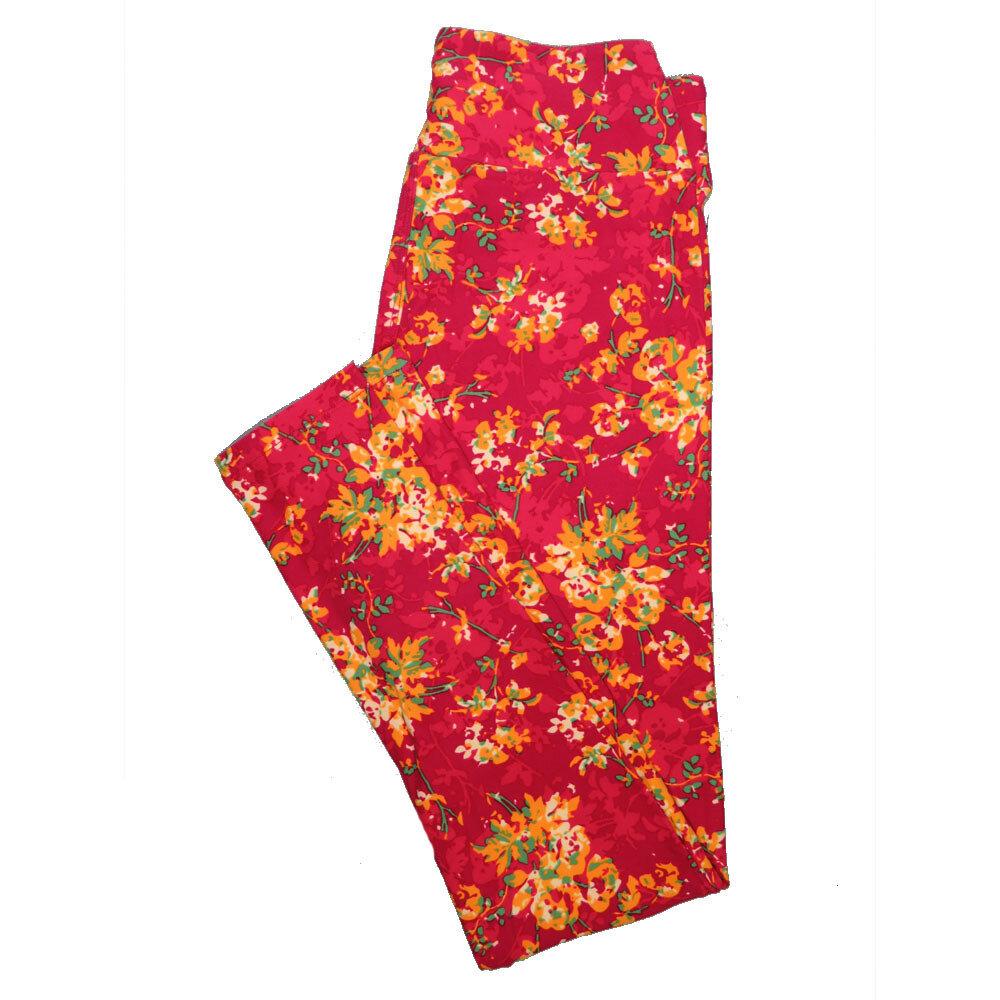 LuLaRoe One Size OS Floral Leggings (OS fits Adults 2-10) OS-4069-K