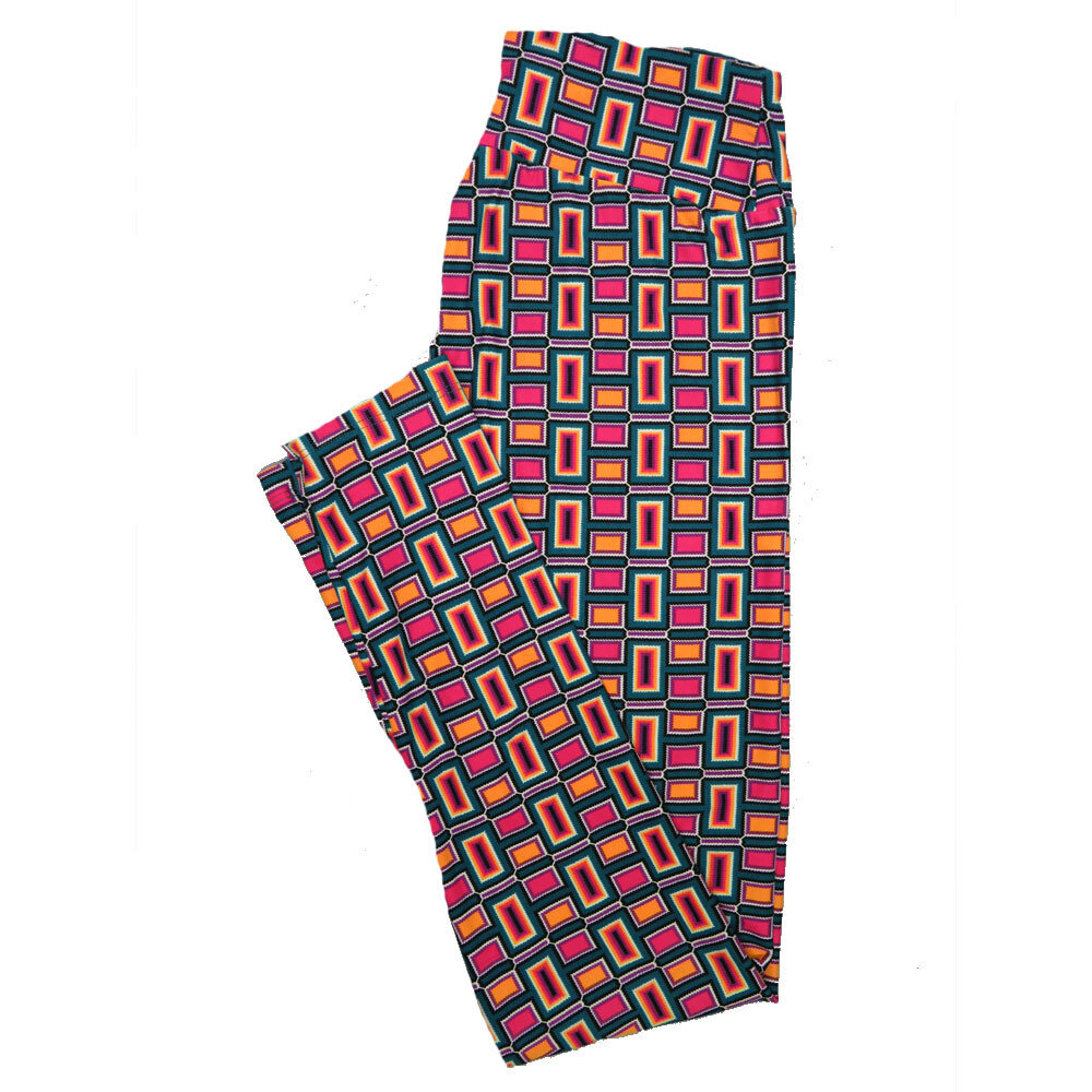 LuLaRoe One Size OS Stripes, Zig Zags and Chevrons Leggings (OS fits Adults 2-10) OS-4075-J