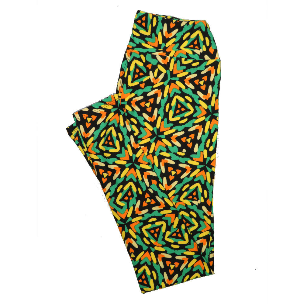 LuLaRoe One Size OS Psychedelic 70's and Trippy Leggings (OS fits Adults 2-10) OS-4076-C