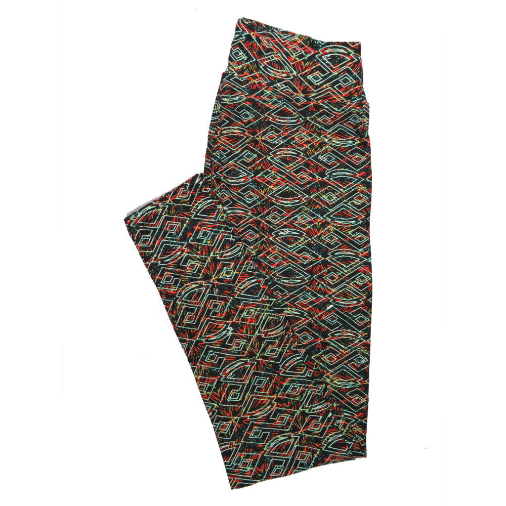 LuLaRoe One Size OS Psychedelic 70's and Trippy Leggings (OS fits Adults 2-10) OS-4076-E