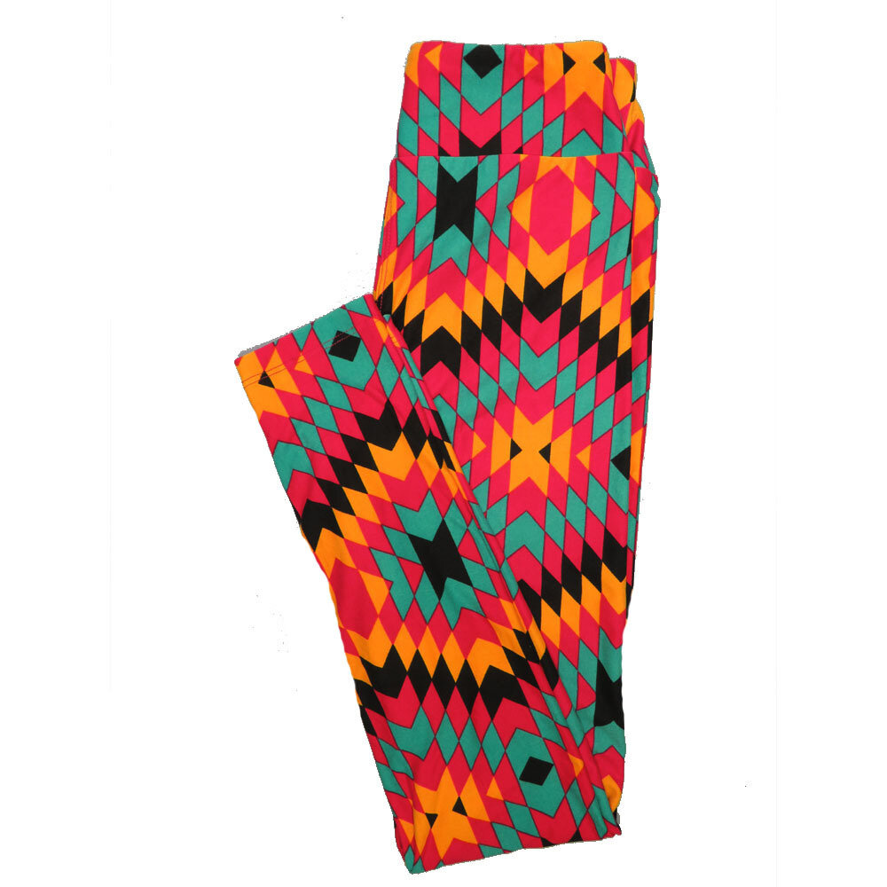 LuLaRoe One Size OS Psychedelic 70's and Trippy Leggings (OS fits Adults 2-10) OS-4076-F