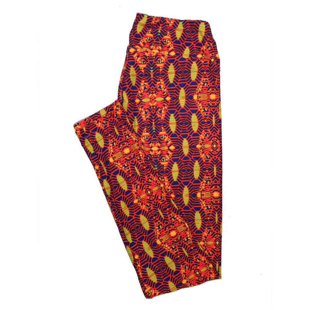 LuLaRoe One Size OS Psychedelic 70's and Trippy Leggings (OS fits Adults 2-10) OS-4076-G