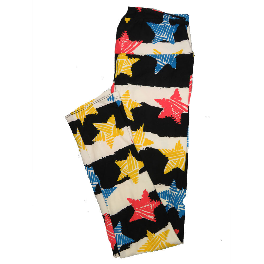 LuLaRoe One Size OS Animals Stars and Objects Leggings (OS fits Adults 2-10) OS-4094-G
