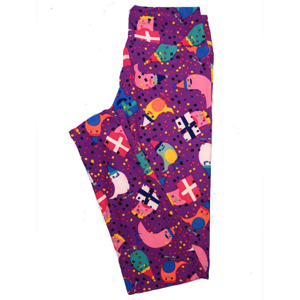 LuLaRoe One Size OS Animals Stars and Objects Leggings (OS fits Adults 2-10) OS-4095-G